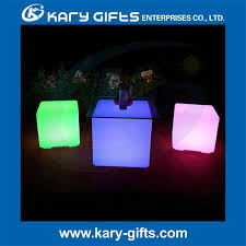 led cubes cube seat lighting led plastic color changing chair led cube stool