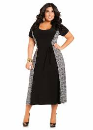 fashion world black and white long dress plus size fab plus