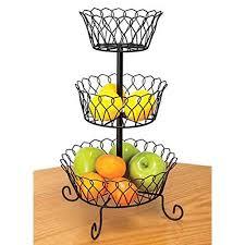 tiered fruit basket kimball black tiered fruit basket walmart