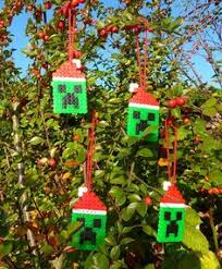 Decorate Christmas Tree Minecraft by Christmas Creeper 3 D Minecraft Perler Bead Statue By