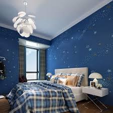 moderne tapete schlafzimmer sternenklare nacht kinder schlafzimmer tapete dunkelblau vlies