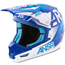 helmet motocross answer mx gear evolve 2 ar15 blue white motocross dirt bike