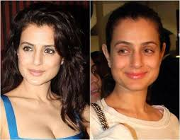 indian celebrity without makeup before and after 1