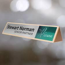 Wooden Desk Name Plates Desk Name Plates Uk Manufactured Clear Branding