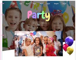 party joomla kids template