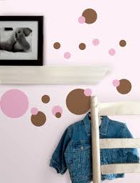 just dots pink brown wall stickers stickers for wall com just dots pink brown wall stickers