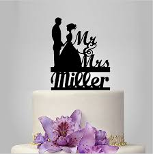 Unique Wedding Cake Toppers Aliexpress Com Buy Personalized Wedding Cake Topper Mr And Mrs