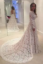Affordable Wedding Gowns Backless Long Sleeve A Line Wedding Dresses Long Custom
