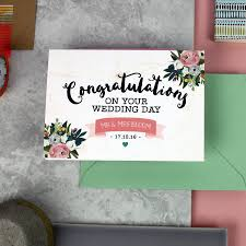 Congratulations On Your Marriage Cards Personalised U0027congratulations On Your Wedding Day U0027 Card By Love