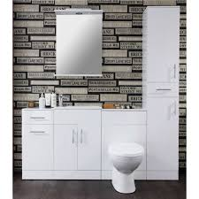 Bathroom Furniture Storage Alpina White Bathroom Cabinet Storage Unit 300mm Depth