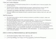 Construction Manager Resume Sample by Ingenious Inspiration Construction Resume Template 4 Construction