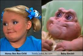 Baby Sinclair Meme - honey boo boo child totally looks like baby sinclair totally