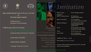 Launch Invitation Card Sample Silver Jubilee Celebration Of Ignca 19th November 2012