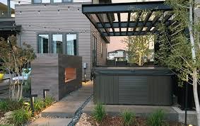 ultra modern and architecturally stunning backyard northfield