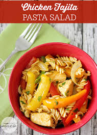 Mexican Pasta Salad Chicken Fajita Pasta Salad Simply Stacie