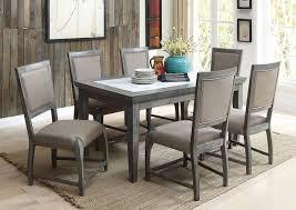 freira marble top dining room set acme furniture furniture cart
