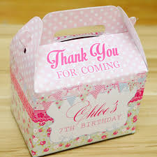 personalized favor boxes shabby chic themed personalized favor boxes gift boxes carrier