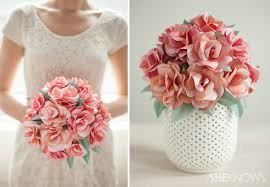 how to make bridal bouquet diy paper bridal bouquet
