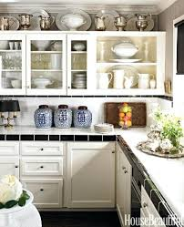 top of kitchen cabinet ideas kitchen above cabinet decorations upandstunning club