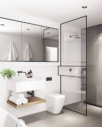 Minosa Bathroom Design Of The Year 2016 Hia Nsw Housing by A Slim Black Shower Frame With A Significant Point Of Difference