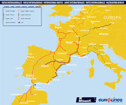 Europe And Africa Map by International Routes Bus Europe Africa Monbus