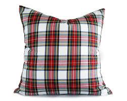 white red plaid pillows christmas pillow cover white tartan