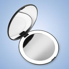 Makeup Mirrors Lighted Fancii Led Lighted Compact Makeup Mirror For Travel 1x 10x