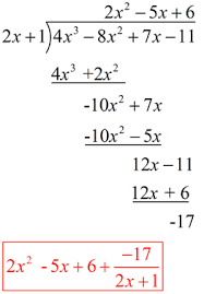 polynomial synthetic division mathbitsnotebook a2 ccss math
