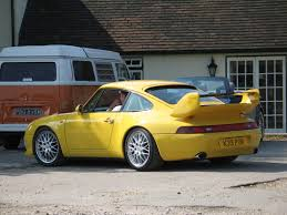 yellow porsche 911 file yellow porsche 911 carrera rs type 993 clubsport rear jpg
