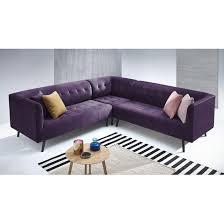 canapé d angle couleur prune canape d angle panoramique kronos 3 prune prune bobochic la