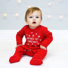 baby christmas personalised snowflake christmas sleepsuit by sparks and