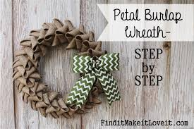 petal burlap wreath how to cheat the perfect bow find it make