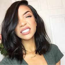 bob haircuts black hair wet and wavy find more human wigs information about 8a glueless full lace wigs