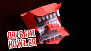 harry potter origami howler berrador youtube