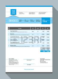 invoice template design royalty free cliparts vectors and stock