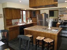 Wood Cabinets Kitchen by White Kitchen Cabinets And Dark Hardwood Nice Home Design