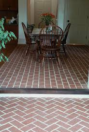 Tile In Dining Room by 70 Best Kitchen And Dining Room Brick Tile Floors Images On