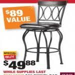 home depot bar stool black friday home decor store swivel bar stools for 49 88 at home depot