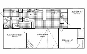 3 Bedroom Plan 3 Bedroom Floor Plan C 9809 Hawks Homes Manufactured