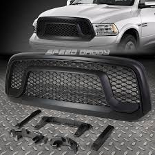 dodge ram white grill for 13 17 ram 1500 black front bumper rebel style abs grill