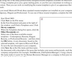 resume 9 microsoft word outline template plantemplate pertaining