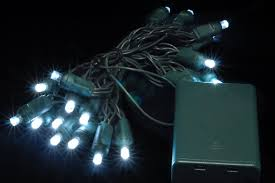 Battery Powered Led Lights Outdoor by Battery Powered Christmas Lights White 1m Battery Powered Led