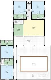 Plan De Maison En Longueur Maison Familiale De Plain Pied Détail Du Plan De Maison