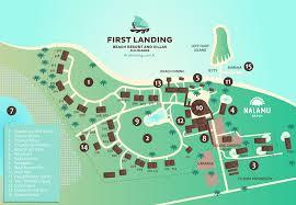 fiji resort map resort map landing resort fiji