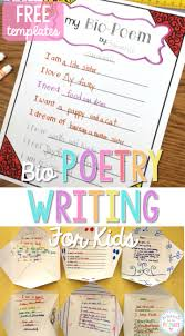 bio poetry writing proud to be primary