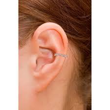 gold ear cuff ko 18ct gold single row diamond ear cuff earrings