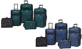 travelers choice images Up to 86 off on rolling luggage set 5 pc groupon goods jpg