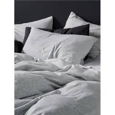 Linen House Bed Linen - linen house hemsworth grey jersey quilt cover set king quilt