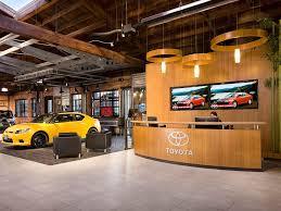 toyota car showroom toyota sf leed dealership rafters inhabitat green design