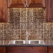 Fasade Kitchen Backsplash Fasade Traditional Style 1 Bermuda Bronze 18 Square Foot